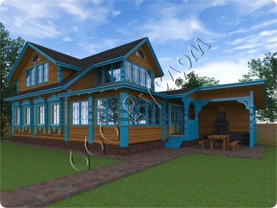 Деревянный дом для отдыха «Артем» из бревна