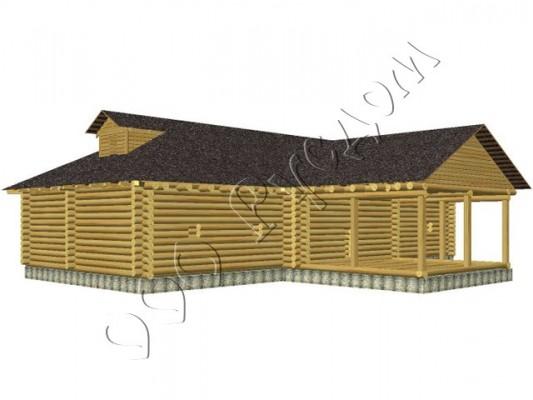 Проект деревянного дома - Крестьянский дом